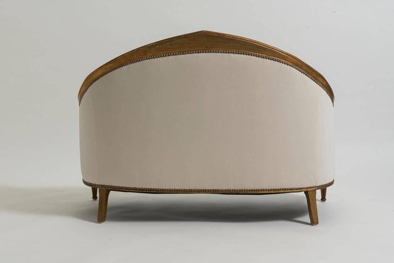 French art deco gilt wood canap for sale at 1stdibs for Canape for sale