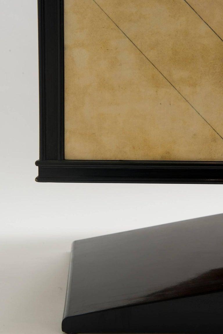 Italian Art Deco Lacquered Goatskin Credenza by Vittorio Dassi For Sale 2