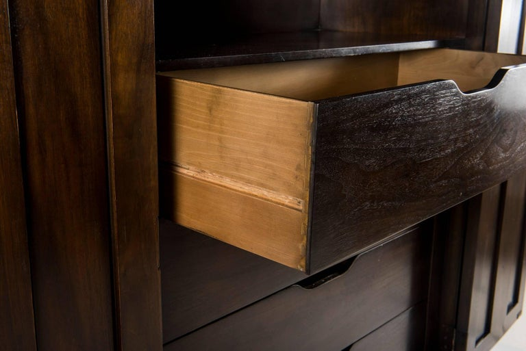 Mastercraft Burl Wood And Brass Cabinet For Sale At 1stdibs