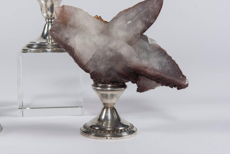 Natural Mineral Specimen on Sterling Silver Collection For Sale 7