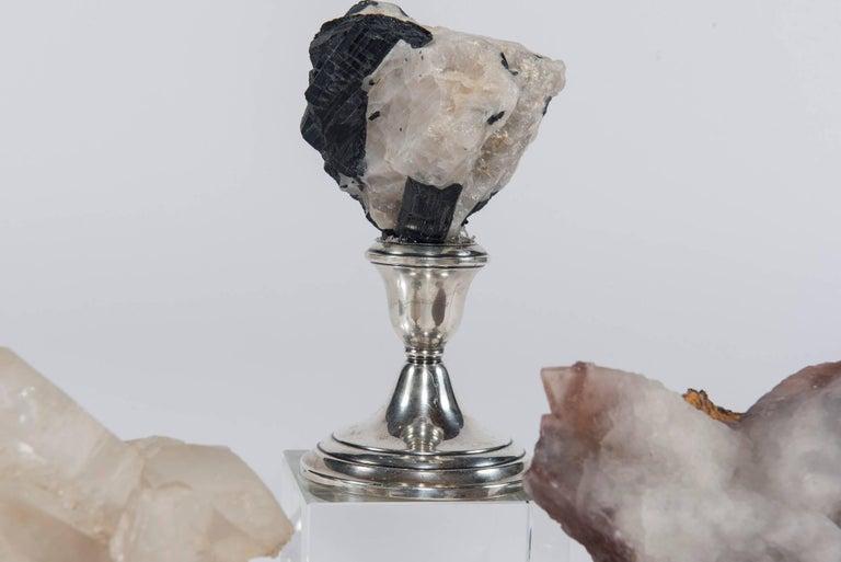 Natural Mineral Specimen on Sterling Silver Collection For Sale 3