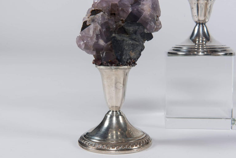 Natural Mineral Specimen on Sterling Silver Collection For Sale 5