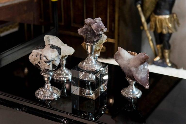 Natural Mineral Specimen on Sterling Silver Collection For Sale 2