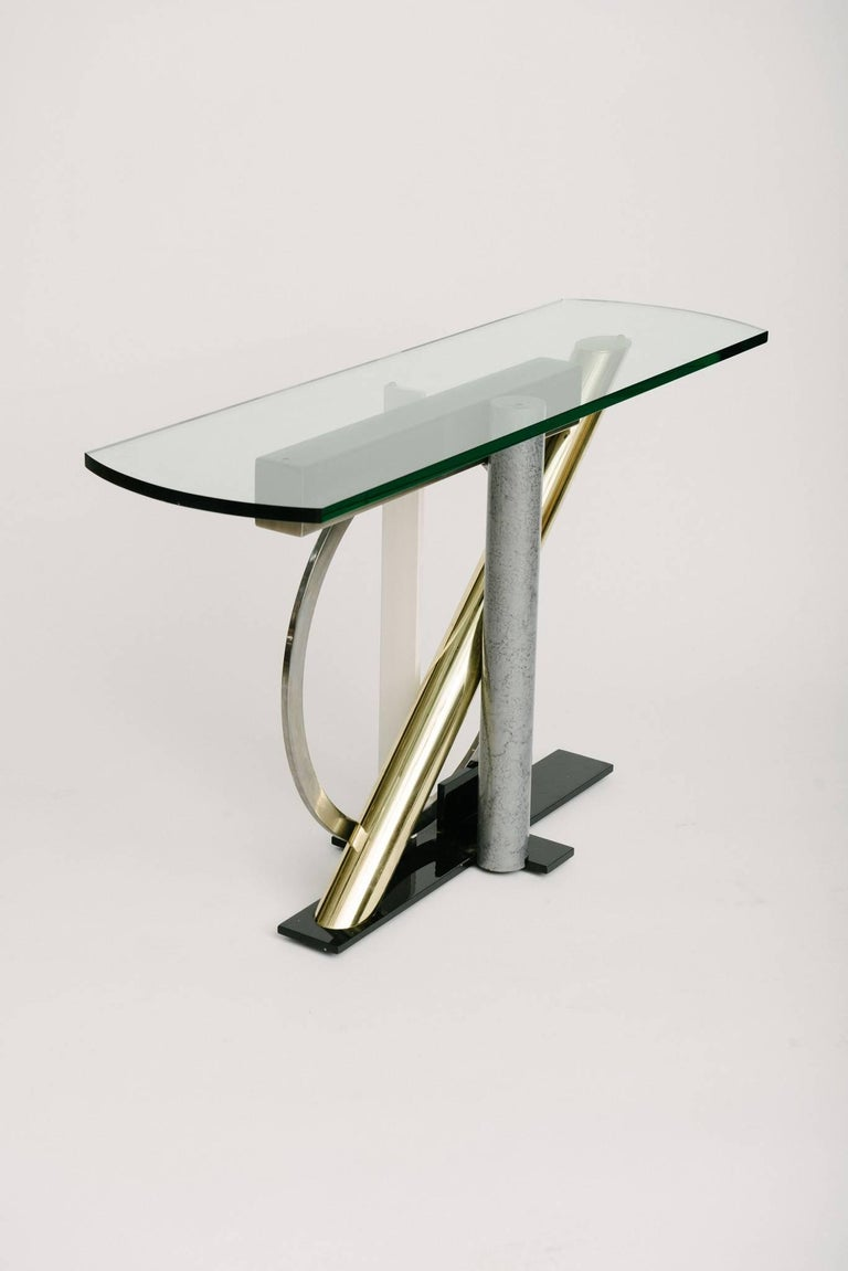 20th Century Vintage Geometric Console Table by Kaizo Oto For Sale