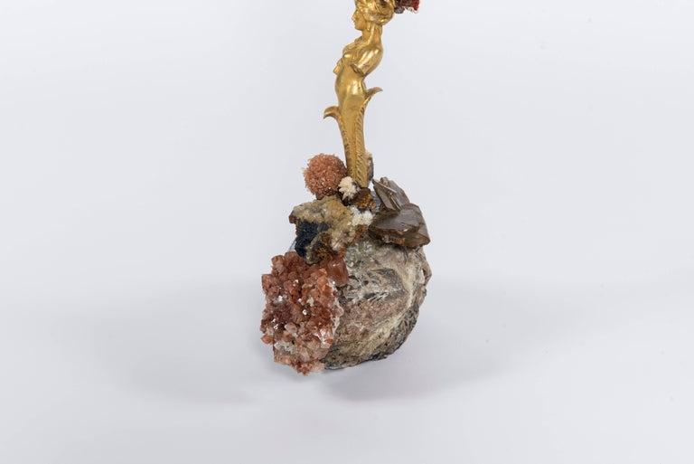 Contemporary Calypso Coral Sea Fan Quartz Caryatid Sculpture For Sale