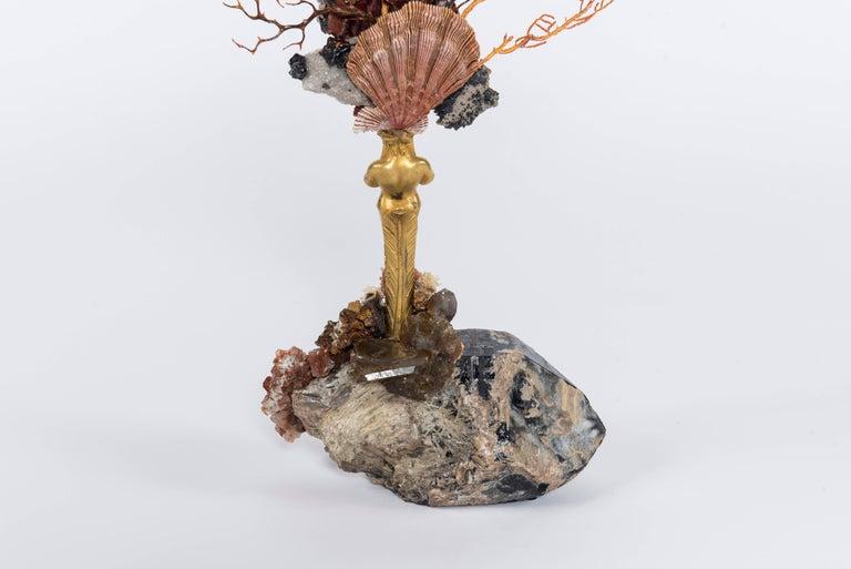 Calypso Coral Sea Fan Quartz Caryatid Sculpture For Sale 1
