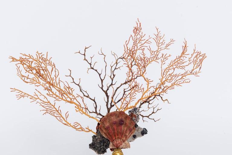 Gilt Calypso Coral Sea Fan Quartz Caryatid Sculpture For Sale