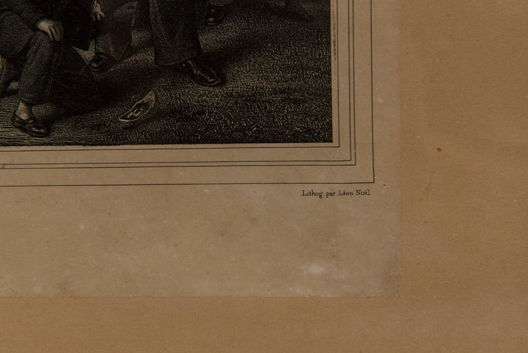Paper 19th Century, French Engraving, La Cinquantaine UFO Invasion For Sale
