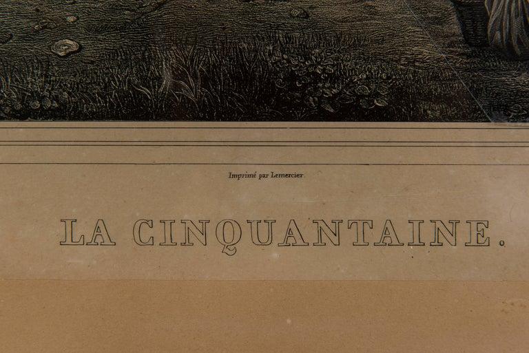 19th Century, French Engraving, La Cinquantaine UFO Invasion For Sale 1