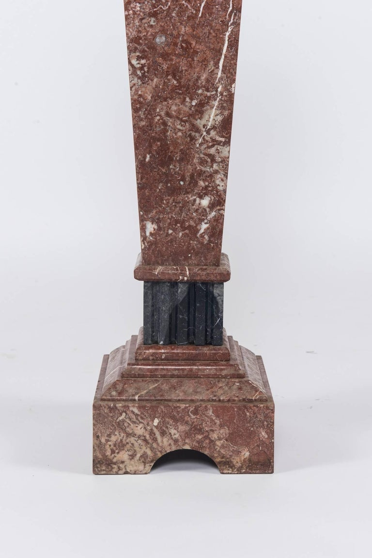Neoclassical Style Marble Pedestal In Good Condition For Sale In Houston, TX