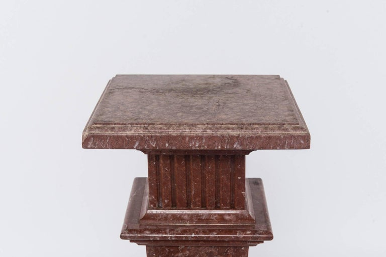 European Neoclassical Style Marble Pedestal For Sale