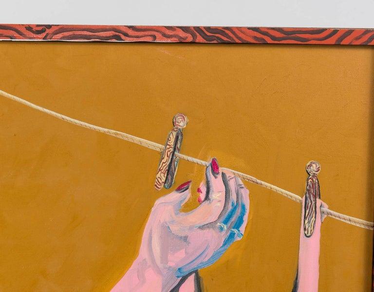 Neraldo de la Paz Pink Abstract Nude Oil on Canvas 2