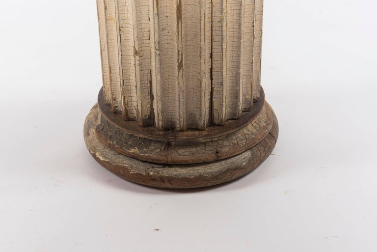 19th Century Fluted Wood Columns In Excellent Condition For Sale In Houston, TX