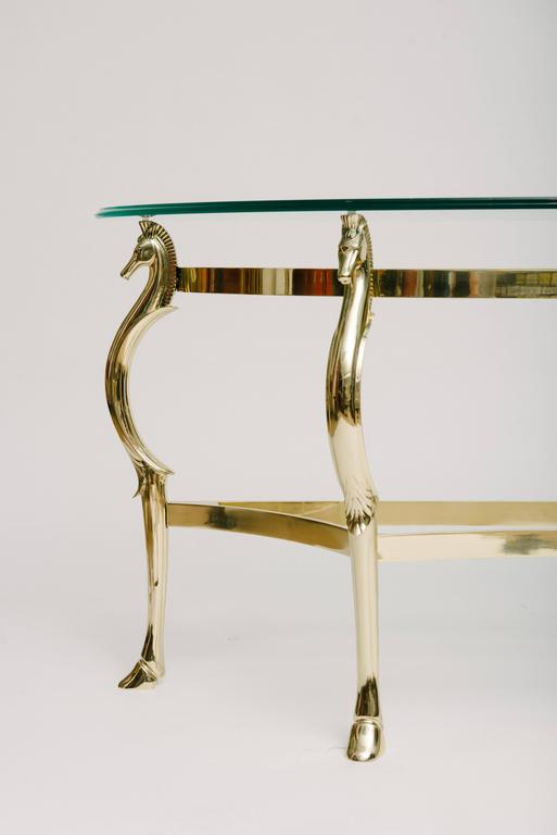 Italian Brass Seahorse Console Table For Sale At 1stdibs