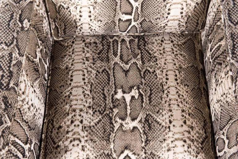 Pair of Python Baker Club Chairs 6