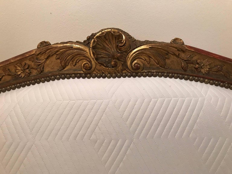 19th Century Louis XV Style Giltwood Canapé 10