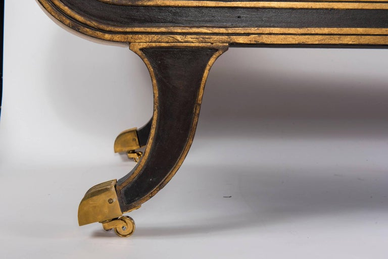 Gilt Federal Style Banquette For Sale
