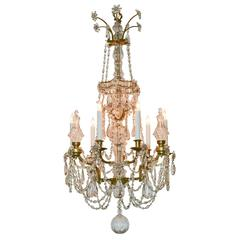 19th Century Northern Italian Crystal Chandelier