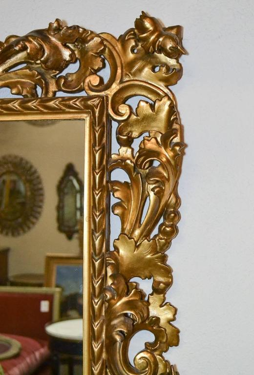Superb 19th Century Pair of Italian Florentine Mirrors In Good Condition For Sale In Dallas, TX