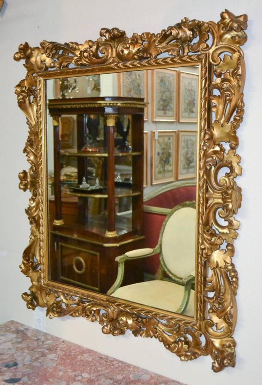 Superb 19th Century Pair of Italian Florentine Mirrors For Sale 4