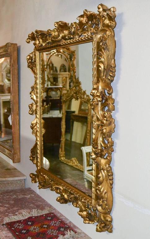 Superb 19th Century Pair of Italian Florentine Mirrors For Sale 2