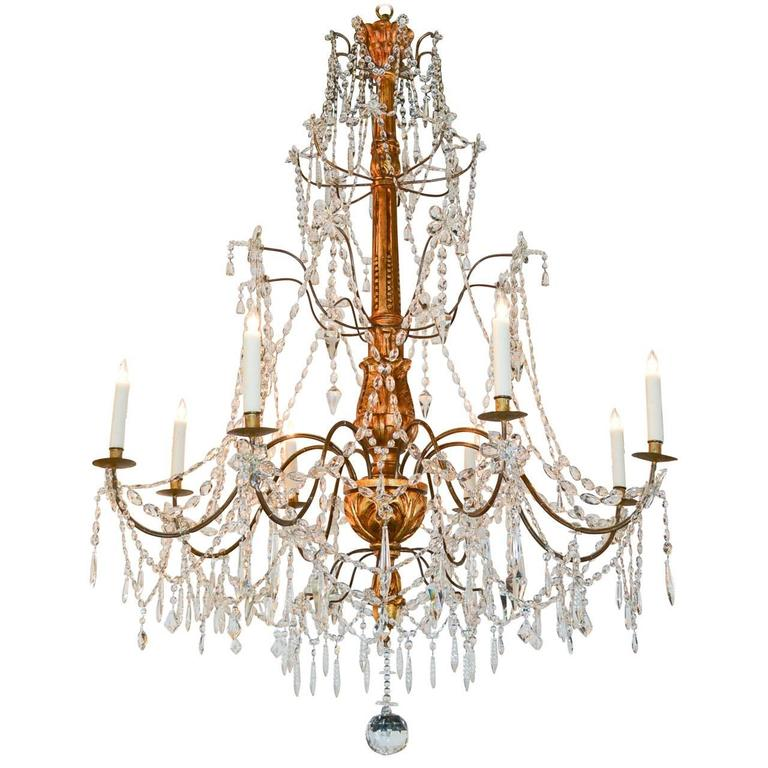 19th Century Italian Chandelier For Sale at 1stdibs