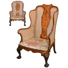 Exceptional Pair of 19th Century Queen Anne Armchairs