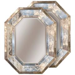 Excellent Pair of Venetian Octagonal Mirrors