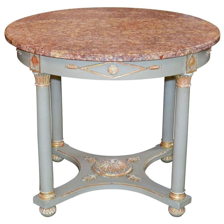 French Empire Parcel-Gilt Occasional Table