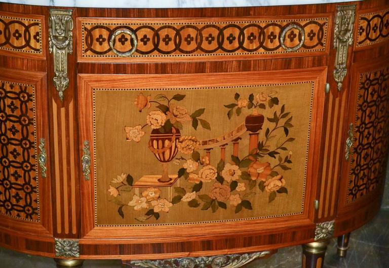 Italian Marquetry Inlaid Server