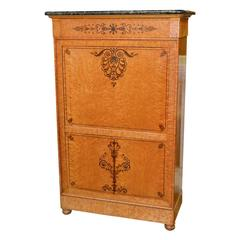Superb 19th Century French Charles X Secretaire