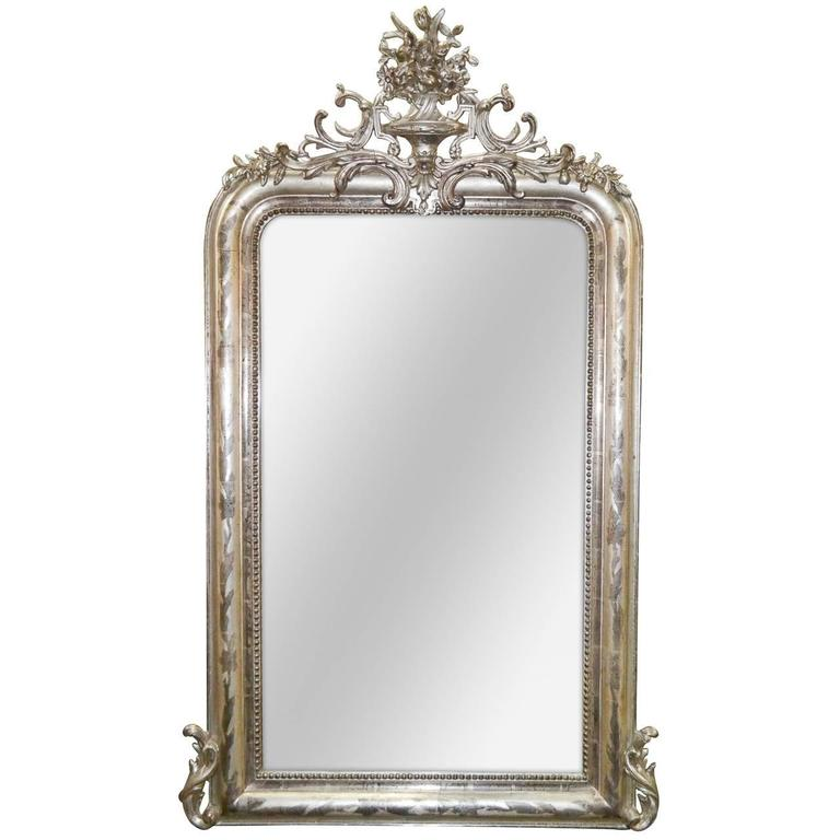 19th Century Silver Louis Philippe Mirror