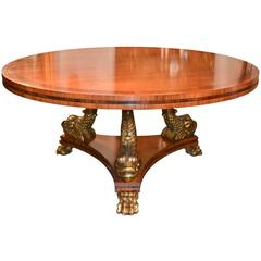 Fine English Regency Centre Table