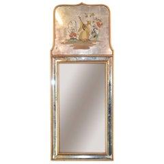 Venetian Glass Mirror in Oriental Motif