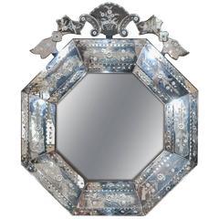 Octagonal Italian Venetian Mirror