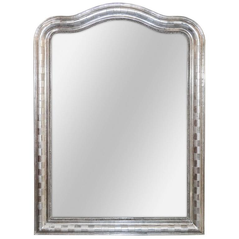 19th Century French Louis Philippe Mirror with Geometric Design