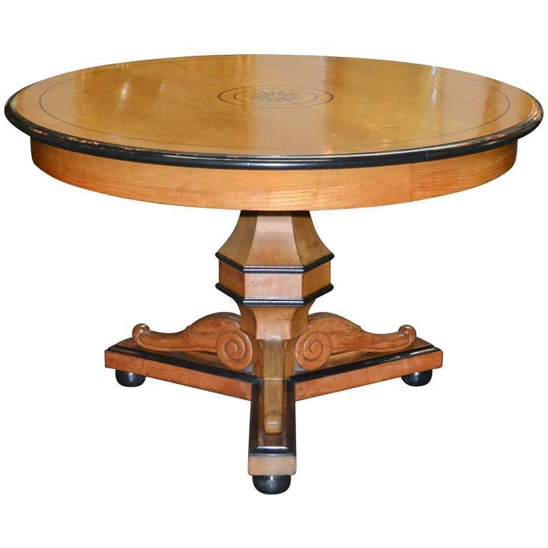 19th Century Blonde Oak Centre Table
