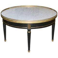 Jansen Midcentury Coffee Table with Carrara Marble Top