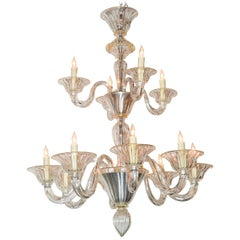 Beautiful Venetian Blown Glass Chandelier