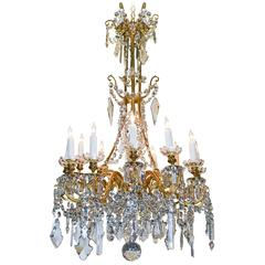 Exceptional 19th Century French Baccarat Chandelier