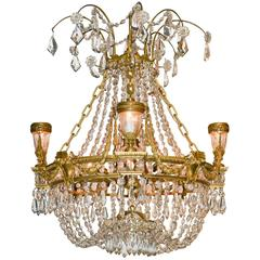 Fine 19th Century French Basket Chandelier
