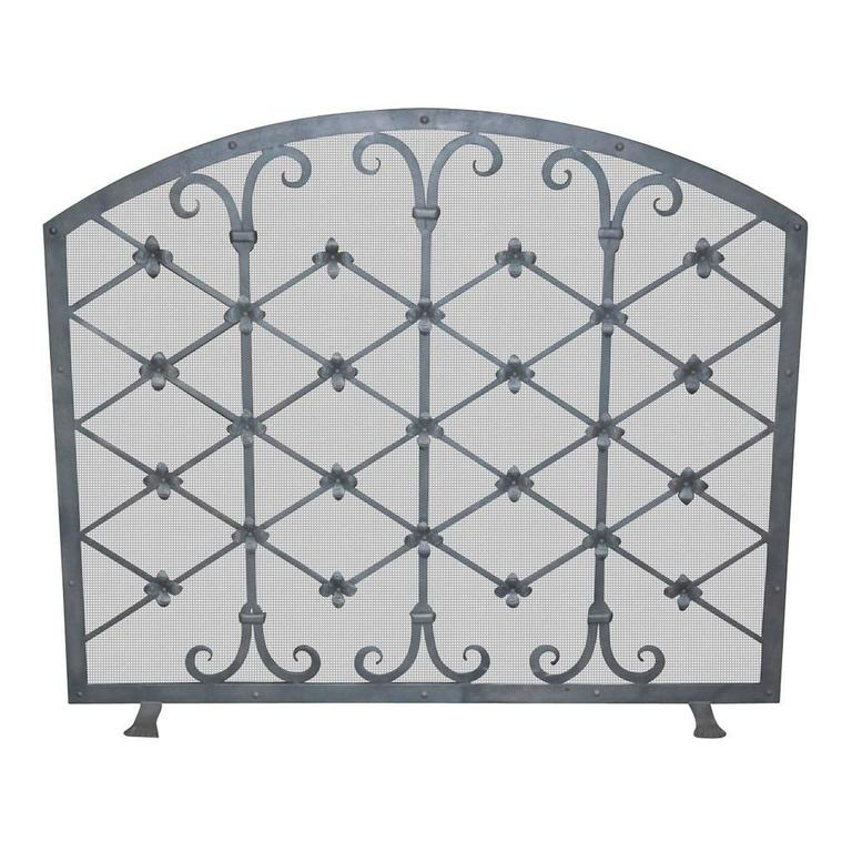 Custom Iron Fire Screen Made By Legacy Antiques In Dallas For