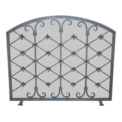 Custom Iron Fire Screen Made by Legacy Antiques in Dallas