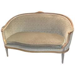 19th Century French Curved Louis XVI Settee