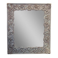 Italian Carved and Painted Large Mirror
