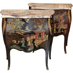 Excellent Pair of French Coromandel Commodes