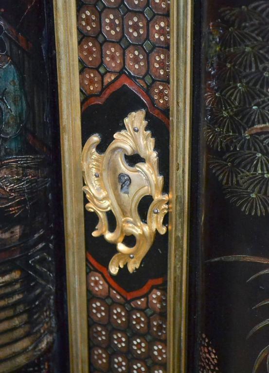 Hand-Painted 19th Century Belle Époque Coromandel Server For Sale