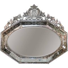 Excellent Oversized Venetian Shaped Mirror