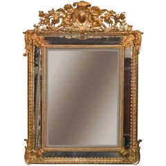 19th Century, French, Louis XV Cushion Mirror