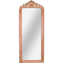 Rare Tall 19th Century French Louis Philippe Mirror